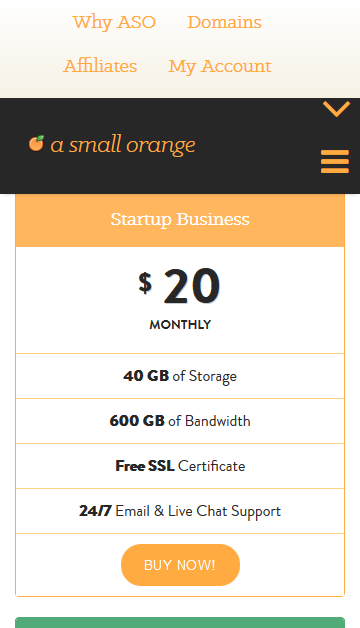 A Small Orange Buggy Mobile Layout