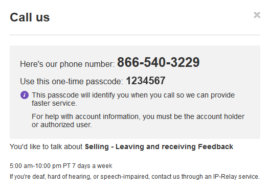 Contact Ebay It Will Include A Pin That Makes Verification Of Your Account Quicker Call The Number And Input When Prompted