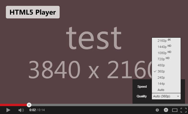 html5 player test