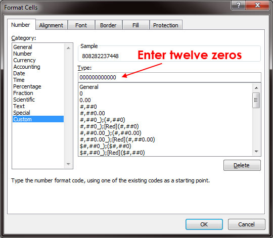 Excel: How to Format UPC With Leading Zero - H3XED