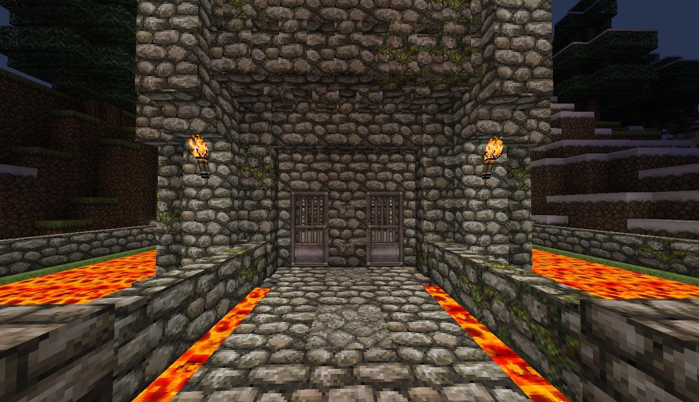 Minecraft Mountain Fortress  Mine Build